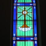 Restauro conservativo di due porzioni di vetrata